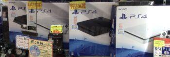 中古PS4本体の在庫あります